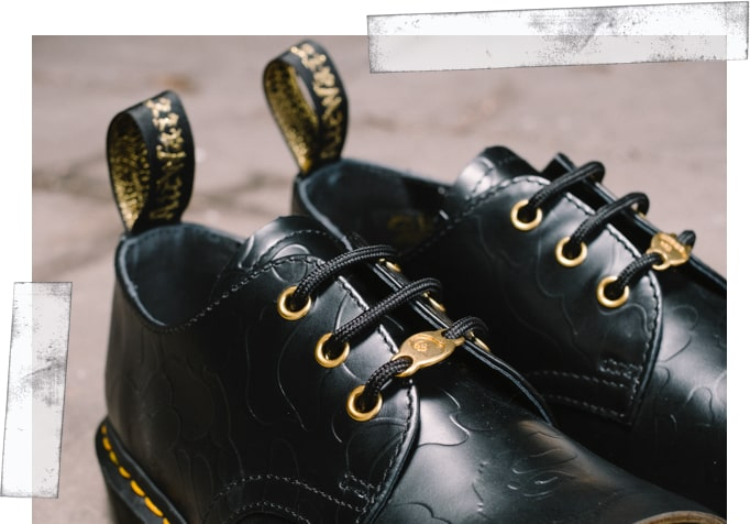 Dr. Martens and Bape Collaboration shoe