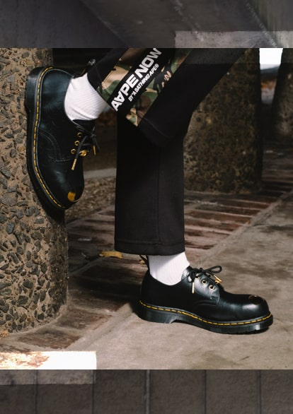 27a9a19a81 ... brand A Bathing Ape (BAPE) again to bring you a streetwear version of  our 1490 boot and Petri shoe. This is Docs footwear that embodies the  effortless, ...