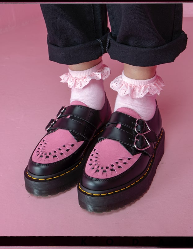 Lazy Oaf X Dr Martens creepers, boots and sandals Leather  Leather