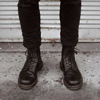 1460 Boots Black Smooth