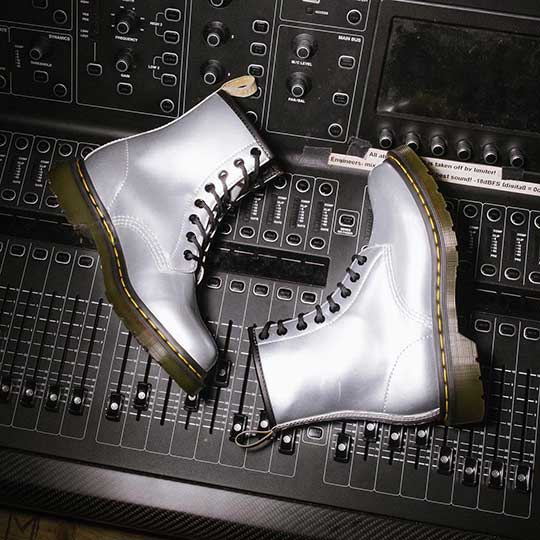 Silver 1460 Vegan Boots