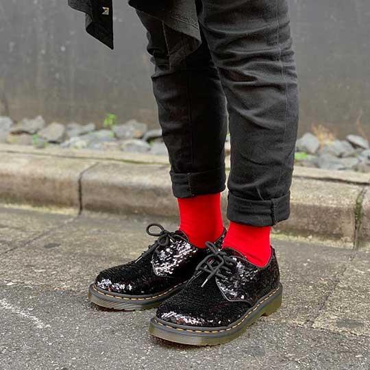 Black 1461 Sequin Shoes