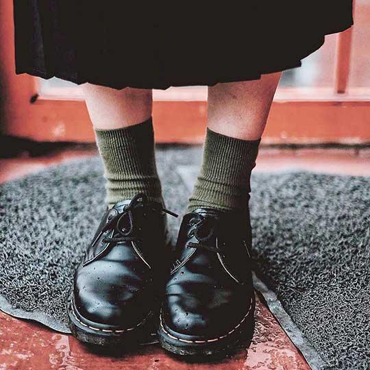 Black 1461 Shoes